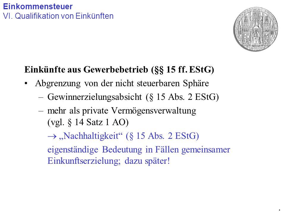 Einkünfte aus Vermietung und Verpachtung (§ 21 EStG) Sonderproblem: Verbilligte Vermietung an Angehörige Hier Überlagerung von –allg.