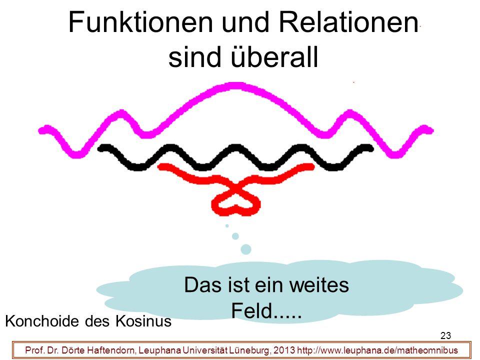 Prof. Dr. Dörte Haftendorn, Leuphana Universität Lüneburg, 2013 http://www.leuphana.de/matheomnibus Funktionen und Relationen sind überall Konchoide d