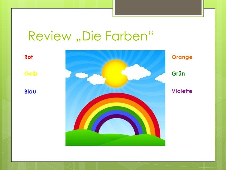 """Review """"Die Farben Rot Violette Grün Blau Gelb Orange"""