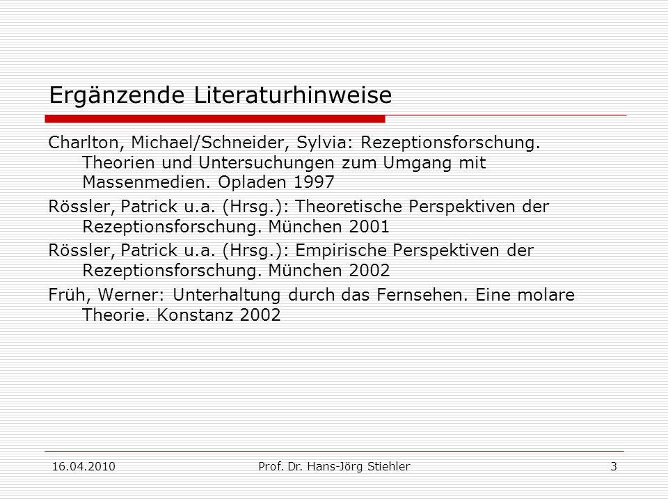 16.04.2010Prof.Dr. Hans-Jörg Stiehler4 1.