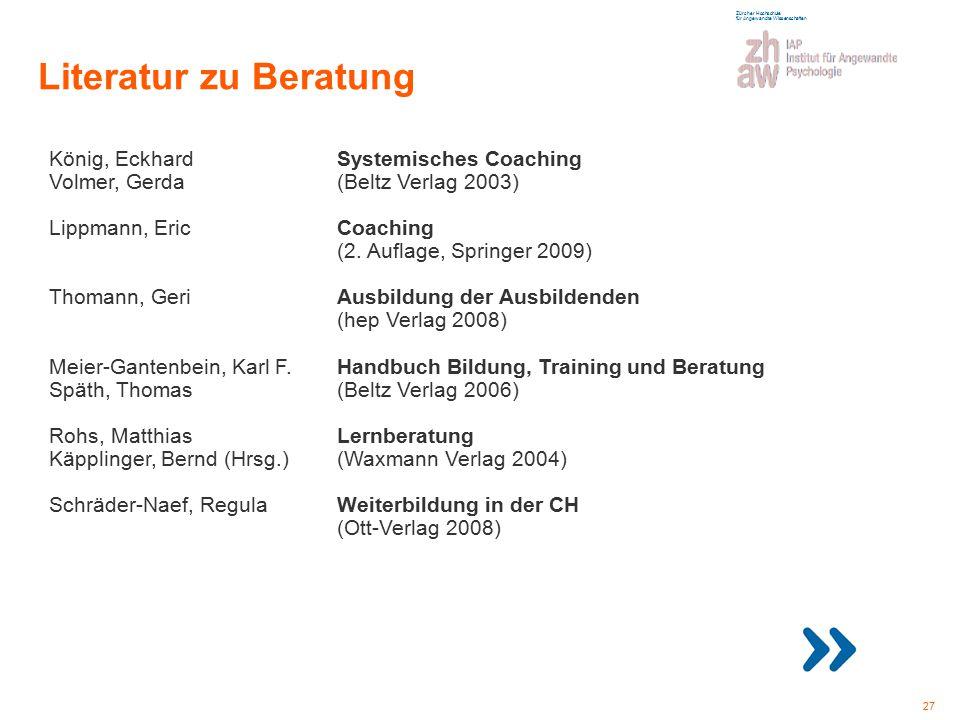 Zürcher Hochschule für Angewandte Wissenschaften Farbpalette weiss: Inhalts- vermittlung blau: Kapitelab- grenzung / Schwerpunkte grau: für Fotos, Gra