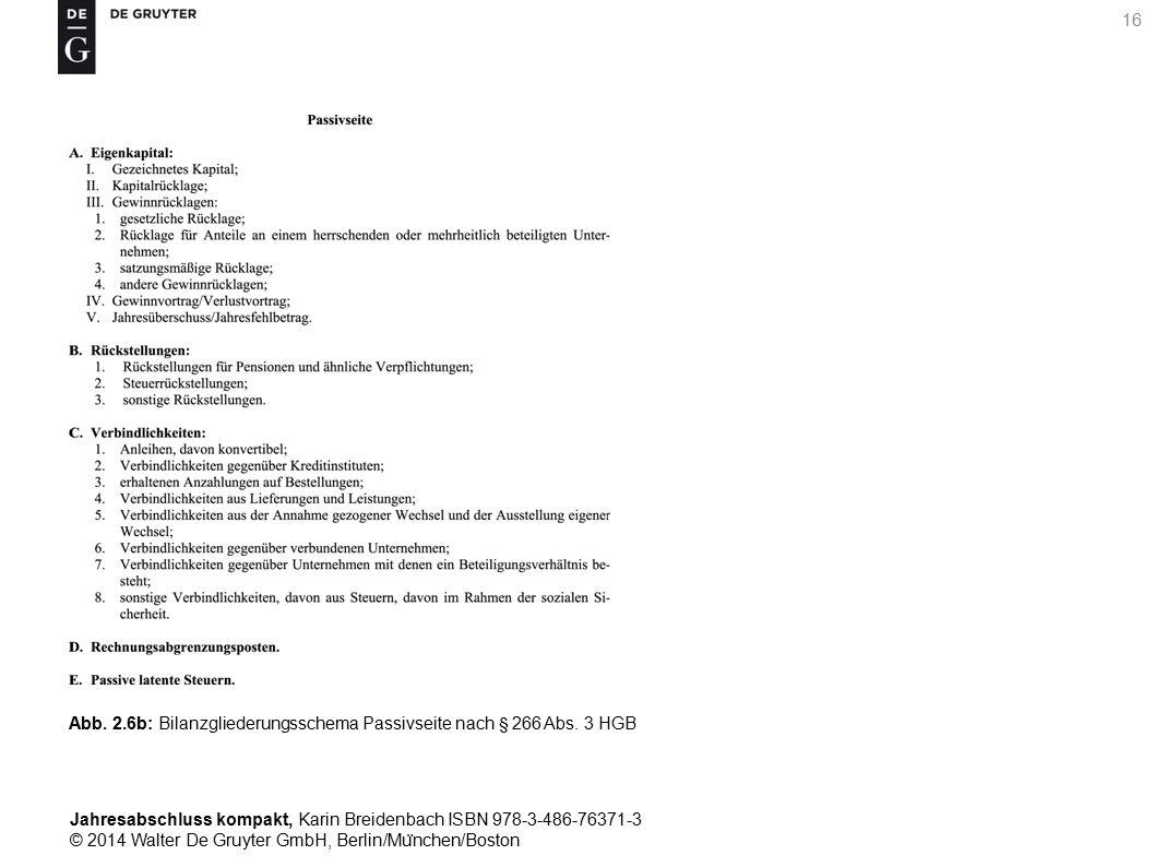 Jahresabschluss kompakt, Karin Breidenbach ISBN 978-3-486-76371-3 © 2014 Walter De Gruyter GmbH, Berlin/Mu ̈ nchen/Boston 16 Abb.