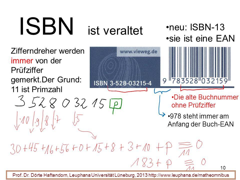 10 ISBN ist veraltet Prof. Dr.