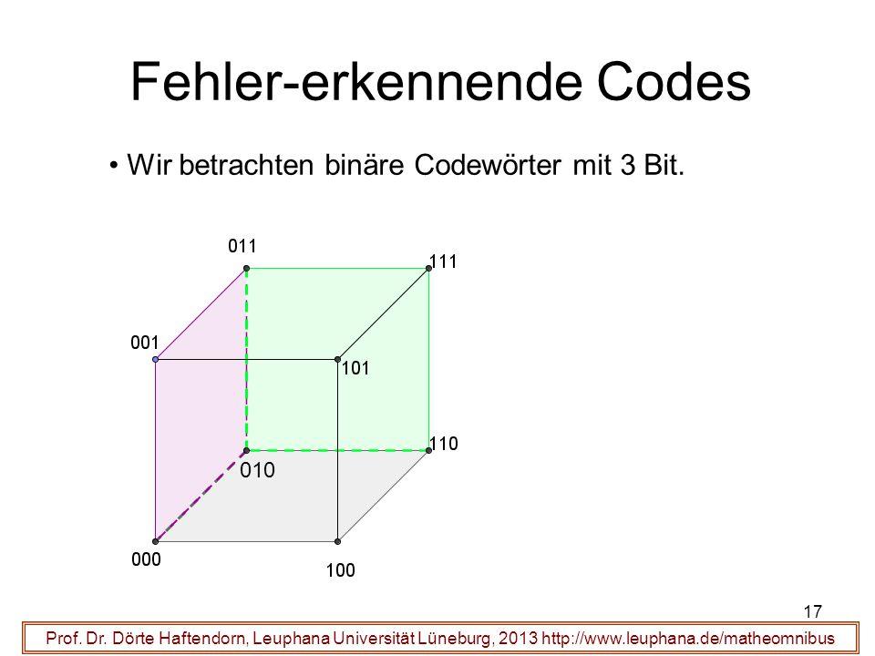 17 Fehler-erkennende Codes Prof. Dr.