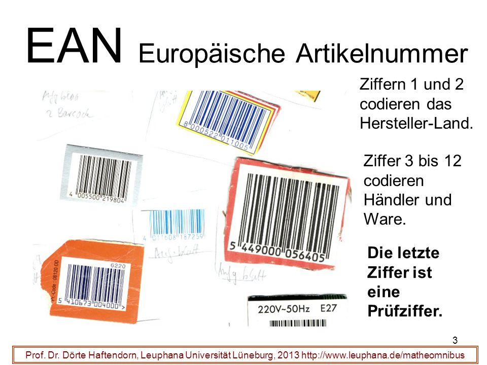 3 EAN Europäische Artikelnummer Prof. Dr.