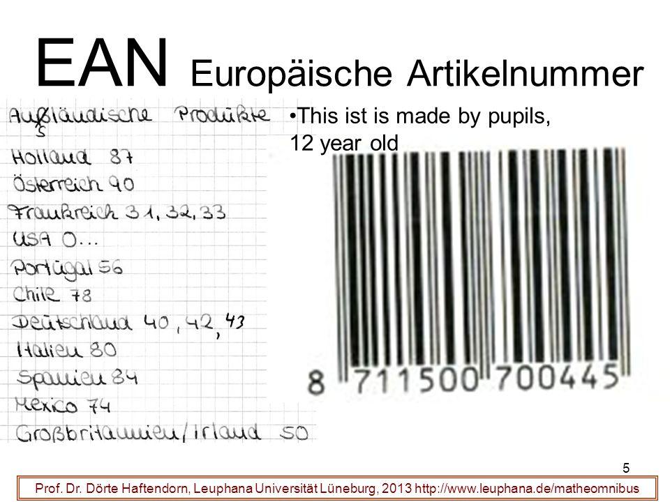 6 EAN European article number Prof.Dr.