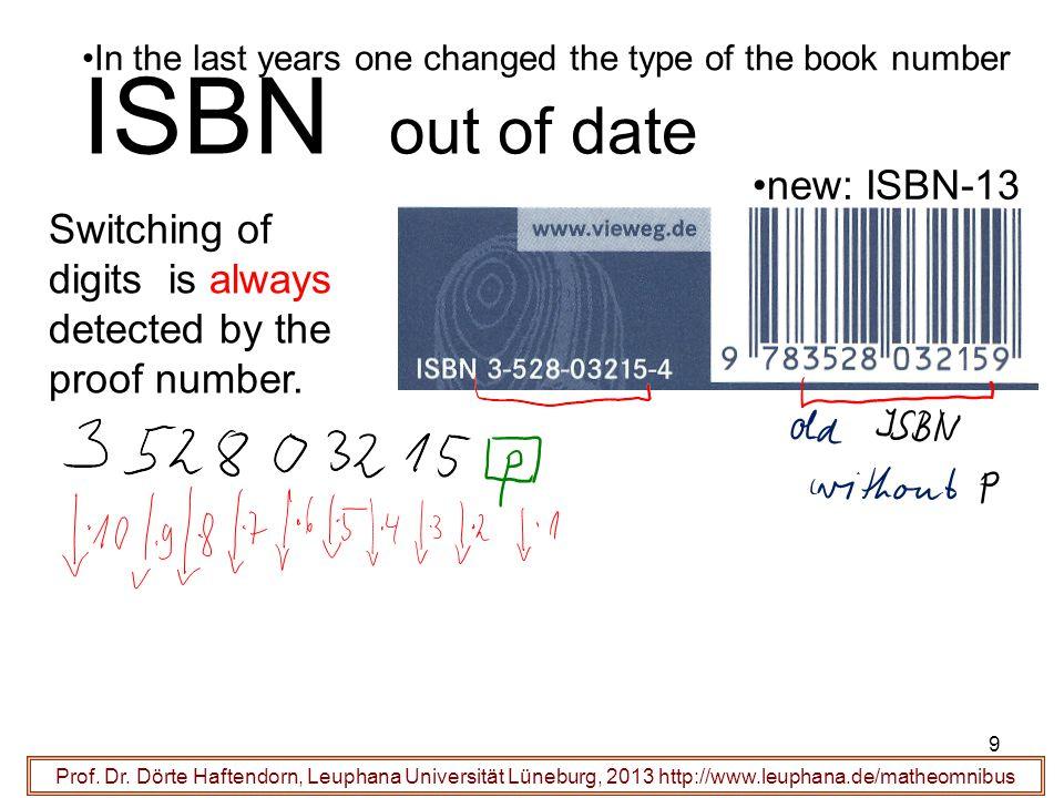 10 ISBN ist veraltet Prof.Dr.