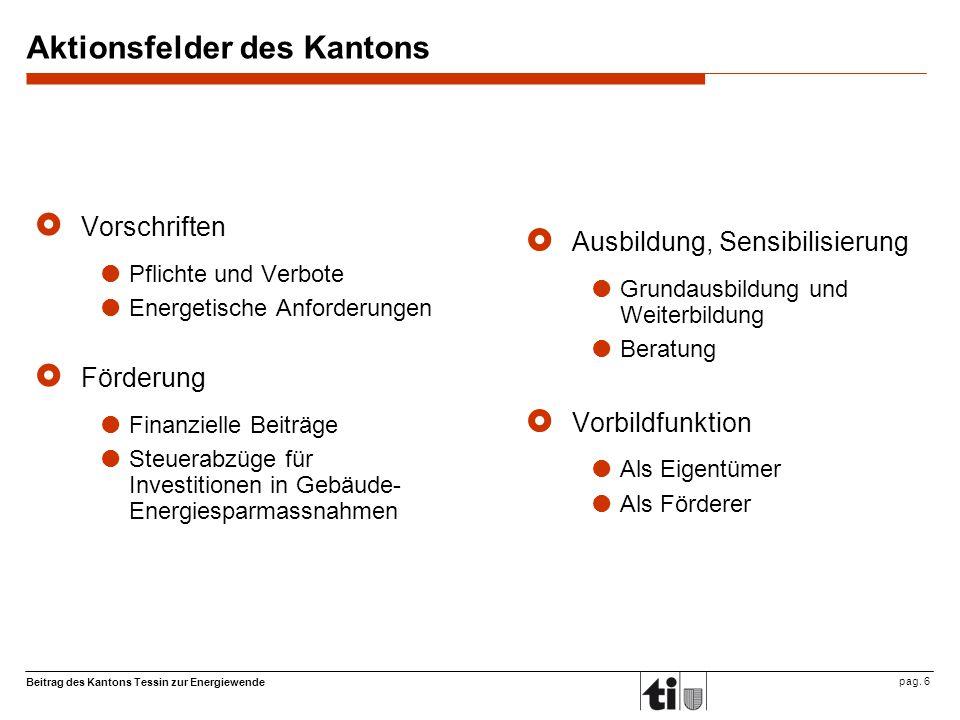 Beitrag des Kantons Tessin zur Energiewende pag.
