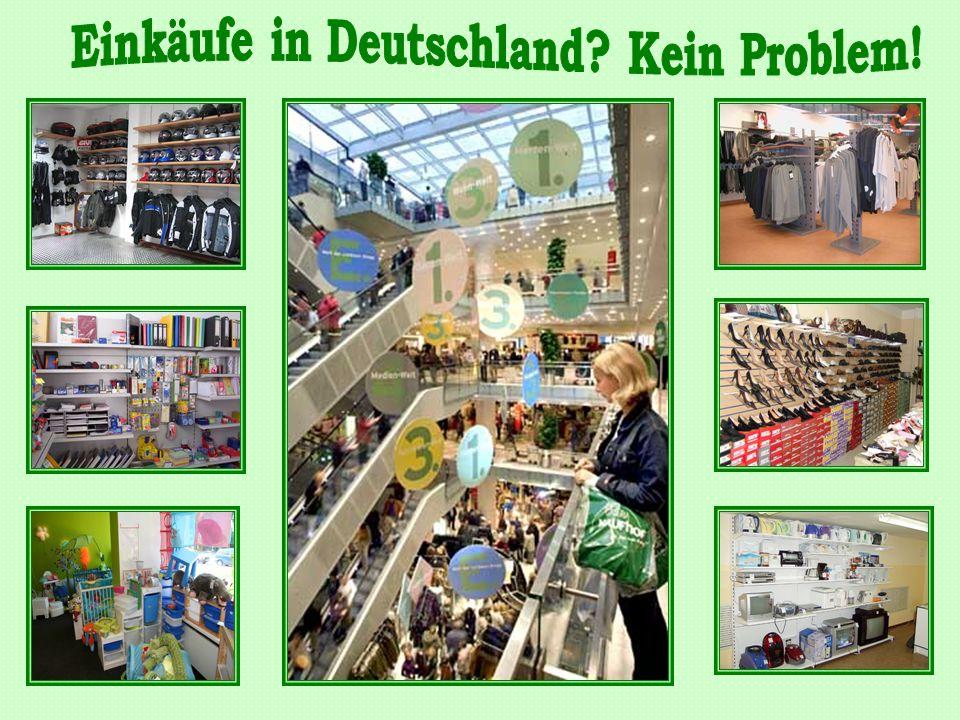 """""""Karstadt mit Luxuswaren """"C & A mit niedrigen Preisen """"Woolworth mit niedrigen Preisen Kleines Warenhaus"""
