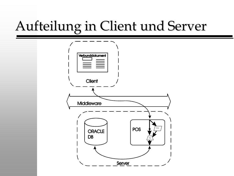 Aufteilung in Client und Server