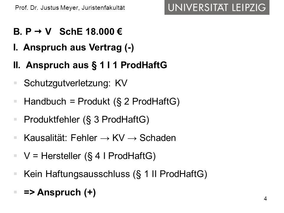 4 Prof.Dr. Justus Meyer, Juristenfakultät B. P  V SchE 18.000 € I.
