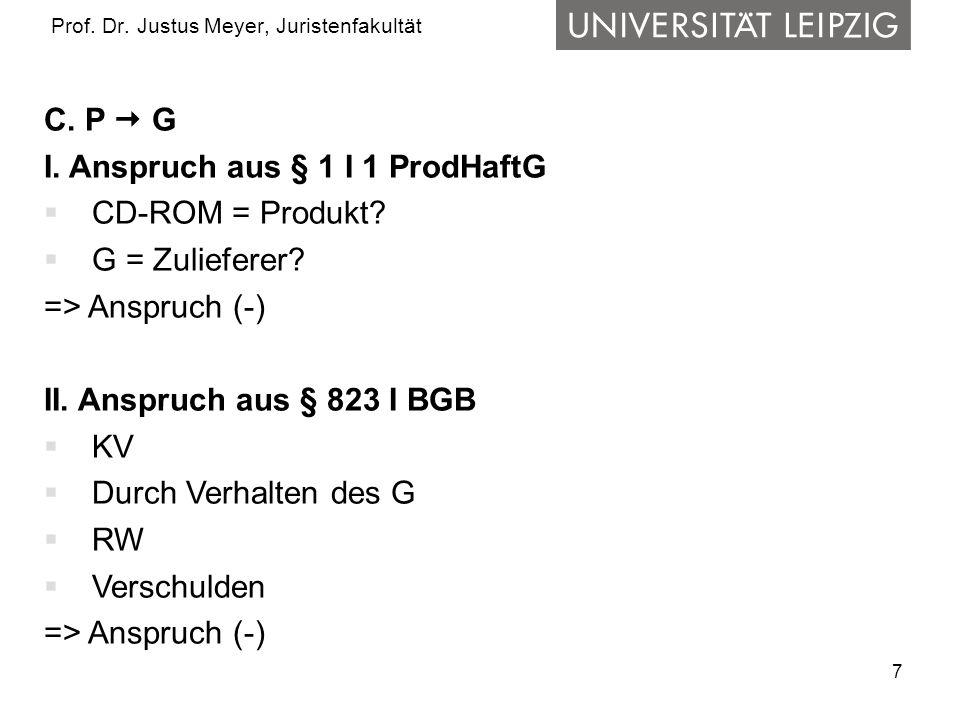 7 Prof.Dr. Justus Meyer, Juristenfakultät C. P  G I.