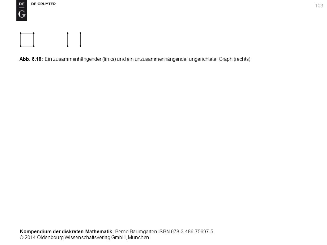 Kompendium der diskreten Mathematik, Bernd Baumgarten ISBN 978-3-486-75697-5 © 2014 Oldenbourg Wissenschaftsverlag GmbH, Mu ̈ nchen 103 Abb. 6.18: Ein