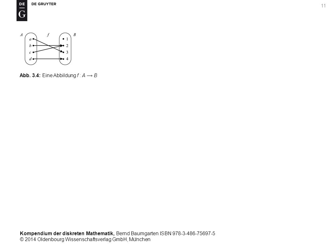 Kompendium der diskreten Mathematik, Bernd Baumgarten ISBN 978-3-486-75697-5 © 2014 Oldenbourg Wissenschaftsverlag GmbH, Mu ̈ nchen 11 Abb.