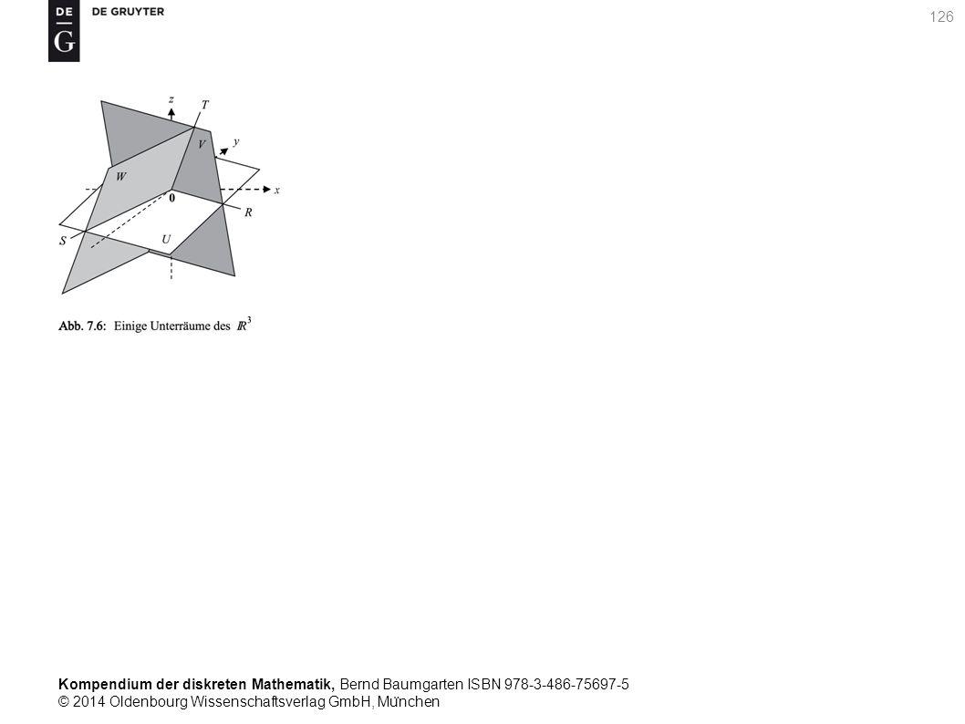 Kompendium der diskreten Mathematik, Bernd Baumgarten ISBN 978-3-486-75697-5 © 2014 Oldenbourg Wissenschaftsverlag GmbH, Mu ̈ nchen 126