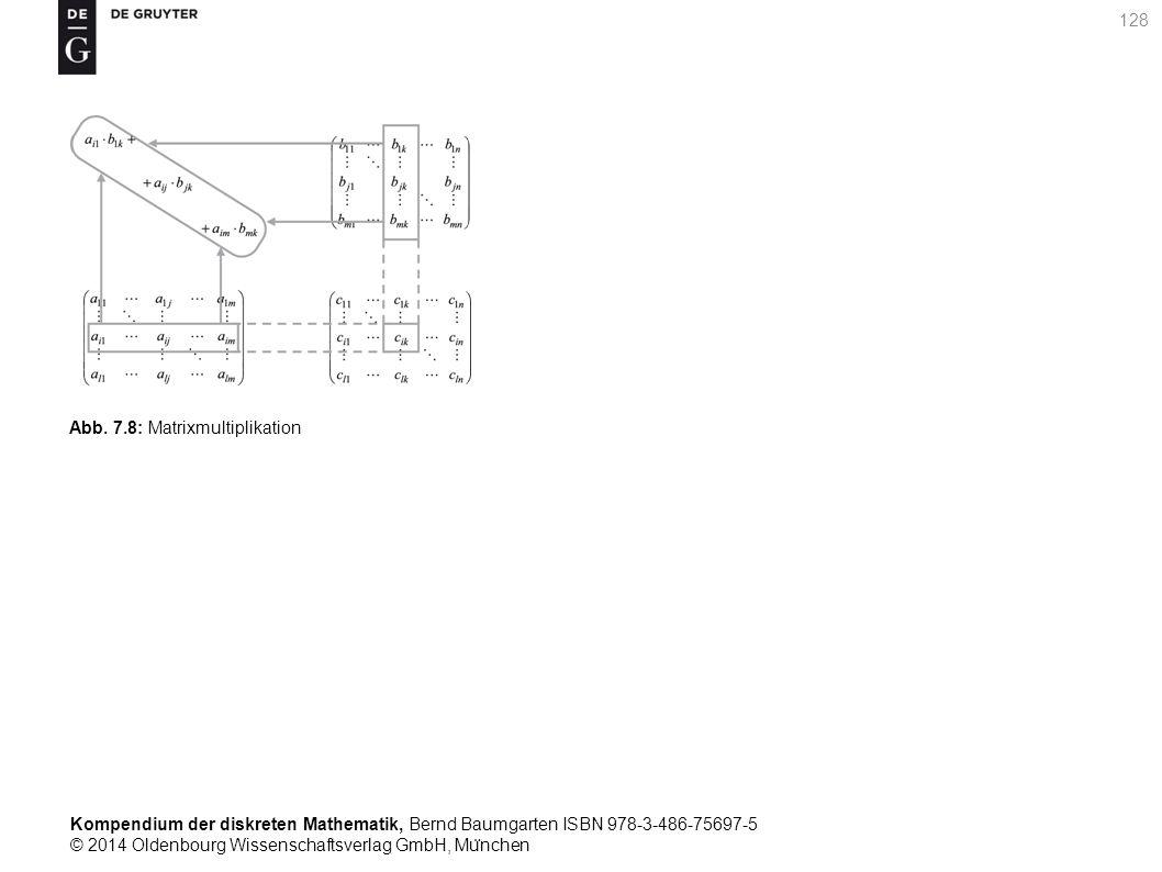 Kompendium der diskreten Mathematik, Bernd Baumgarten ISBN 978-3-486-75697-5 © 2014 Oldenbourg Wissenschaftsverlag GmbH, Mu ̈ nchen 128 Abb. 7.8: Matr