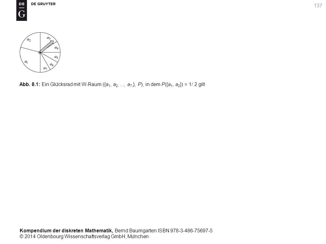 Kompendium der diskreten Mathematik, Bernd Baumgarten ISBN 978-3-486-75697-5 © 2014 Oldenbourg Wissenschaftsverlag GmbH, Mu ̈ nchen 137 Abb. 8.1: Ein
