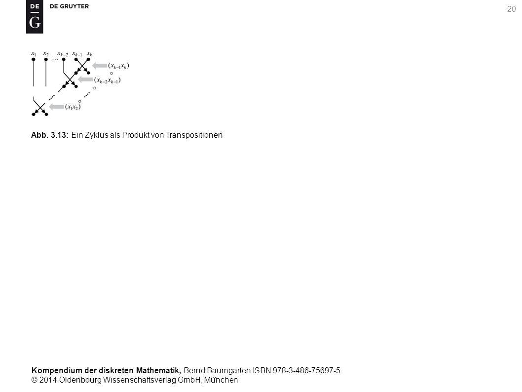 Kompendium der diskreten Mathematik, Bernd Baumgarten ISBN 978-3-486-75697-5 © 2014 Oldenbourg Wissenschaftsverlag GmbH, Mu ̈ nchen 20 Abb. 3.13: Ein