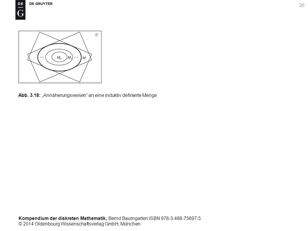 """Kompendium der diskreten Mathematik, Bernd Baumgarten ISBN 978-3-486-75697-5 © 2014 Oldenbourg Wissenschaftsverlag GmbH, Mu ̈ nchen 26 Abb. 3.18: """"Ann"""