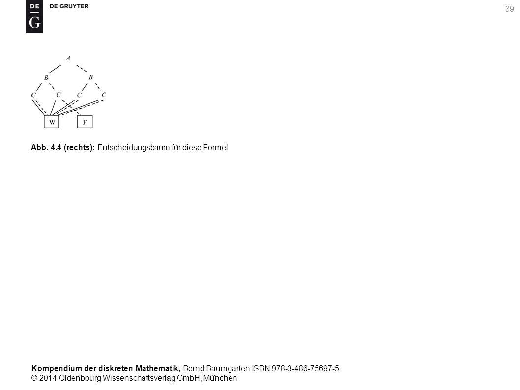 Kompendium der diskreten Mathematik, Bernd Baumgarten ISBN 978-3-486-75697-5 © 2014 Oldenbourg Wissenschaftsverlag GmbH, Mu ̈ nchen 39 Abb.