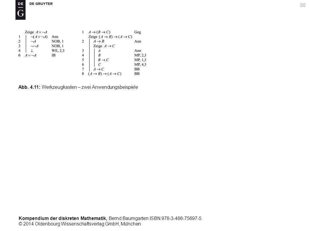 Kompendium der diskreten Mathematik, Bernd Baumgarten ISBN 978-3-486-75697-5 © 2014 Oldenbourg Wissenschaftsverlag GmbH, Mu ̈ nchen 50 Abb. 4.11: Werk