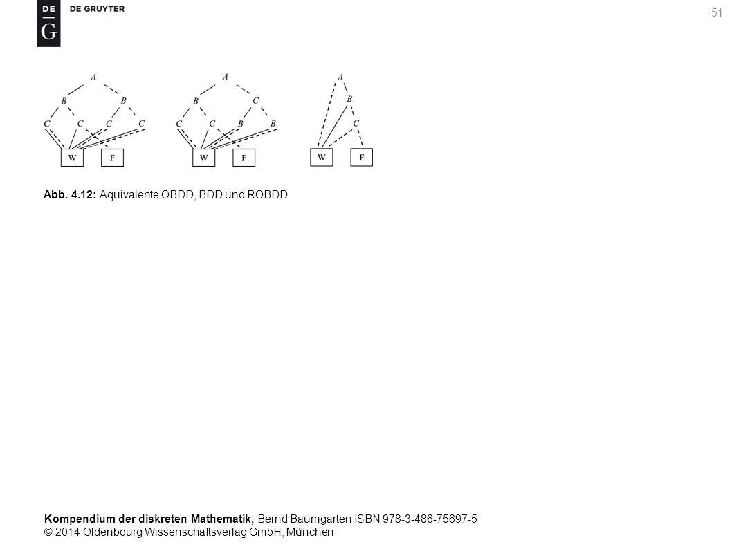 Kompendium der diskreten Mathematik, Bernd Baumgarten ISBN 978-3-486-75697-5 © 2014 Oldenbourg Wissenschaftsverlag GmbH, Mu ̈ nchen 51 Abb. 4.12: Äqui