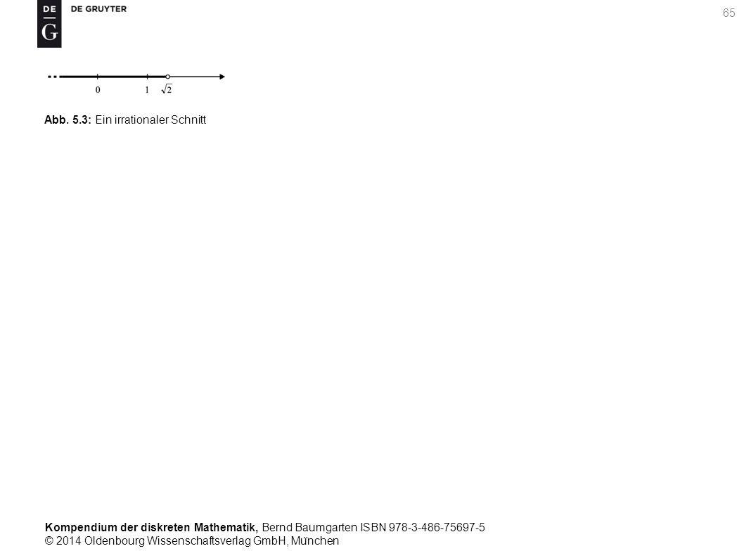 Kompendium der diskreten Mathematik, Bernd Baumgarten ISBN 978-3-486-75697-5 © 2014 Oldenbourg Wissenschaftsverlag GmbH, Mu ̈ nchen 65 Abb.