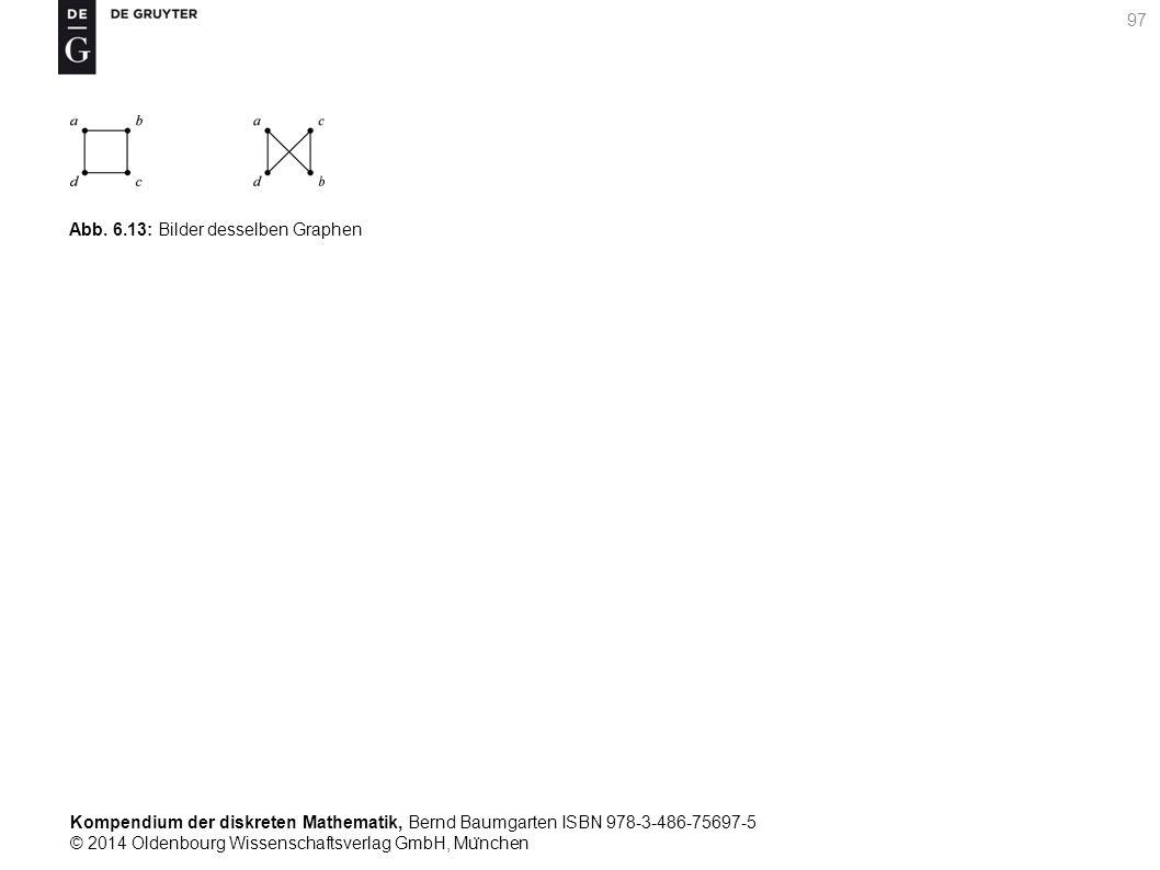 Kompendium der diskreten Mathematik, Bernd Baumgarten ISBN 978-3-486-75697-5 © 2014 Oldenbourg Wissenschaftsverlag GmbH, Mu ̈ nchen 97 Abb. 6.13: Bild