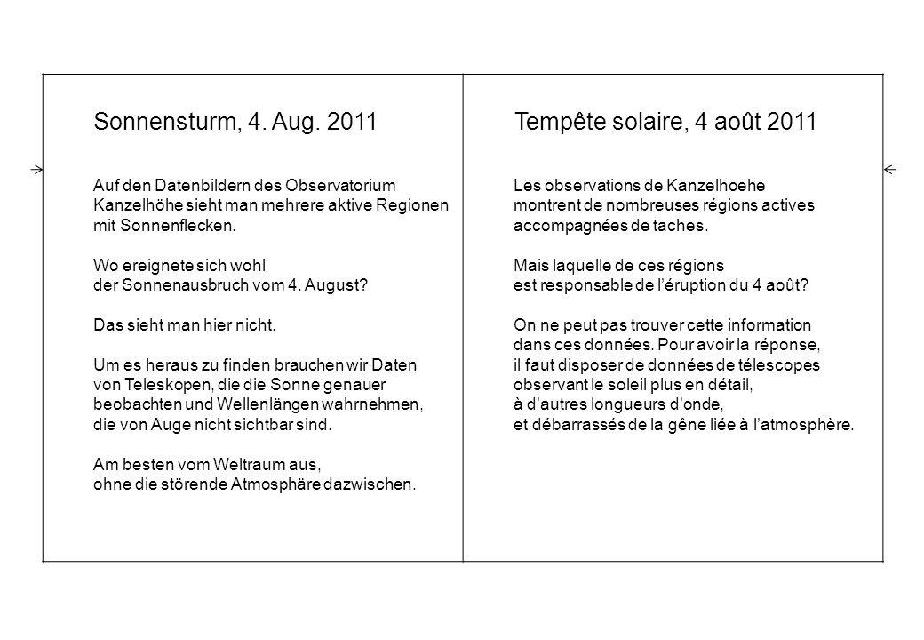 Sonnensturm, 4. Aug.