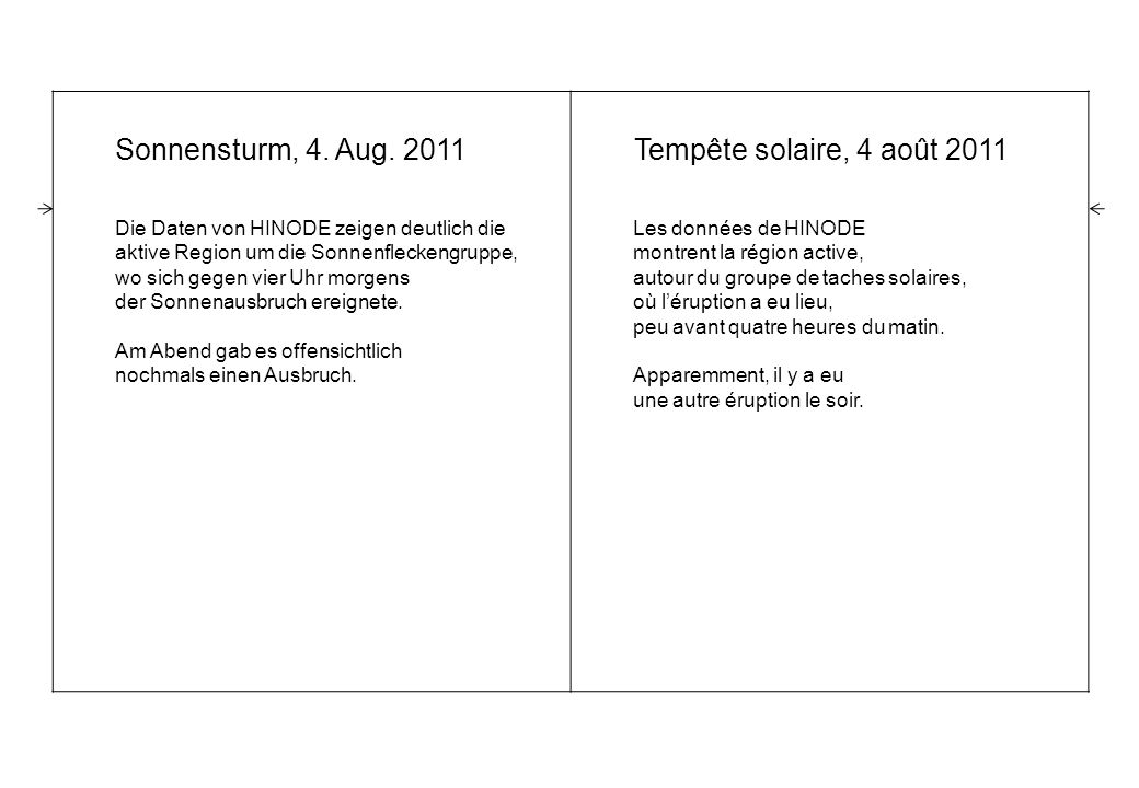 Sonnensturm, 4.Aug.
