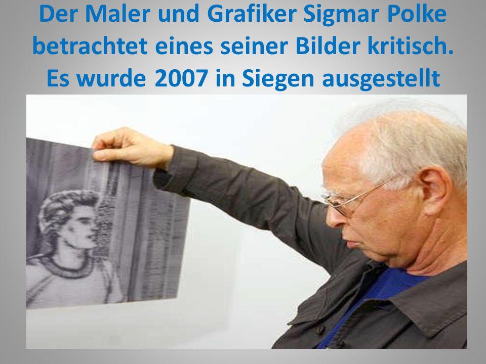 Sigmar Polke 2007 im Museum für Gegenwartskunst in Siegen.