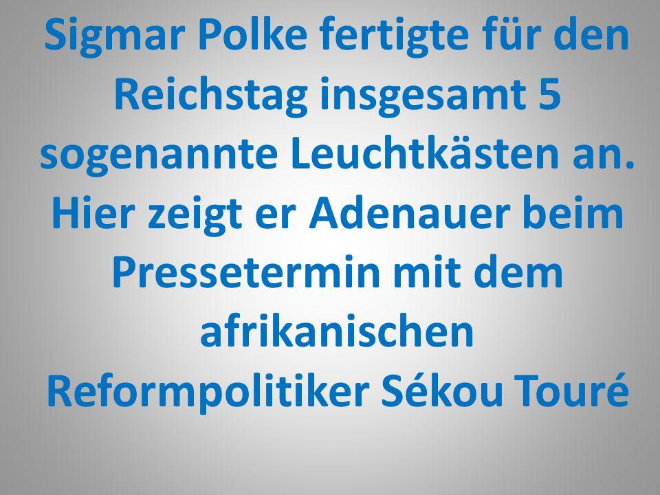 Sigmar Polke fertigte für den Reichstag insgesamt 5 sogenannte Leuchtkästen an.