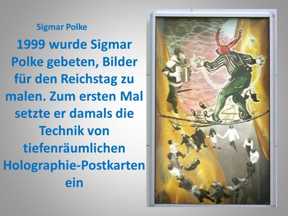 Der Künstler und seine Werke Sigmar Polke spielte mit schwarzweißen Versatzstücken aus Fotografie und Druck.