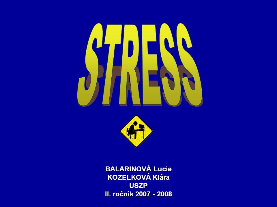BALARINOVÁ Lucie KOZELKOVÁ Klára USZP II. ročník 2007 - 2008