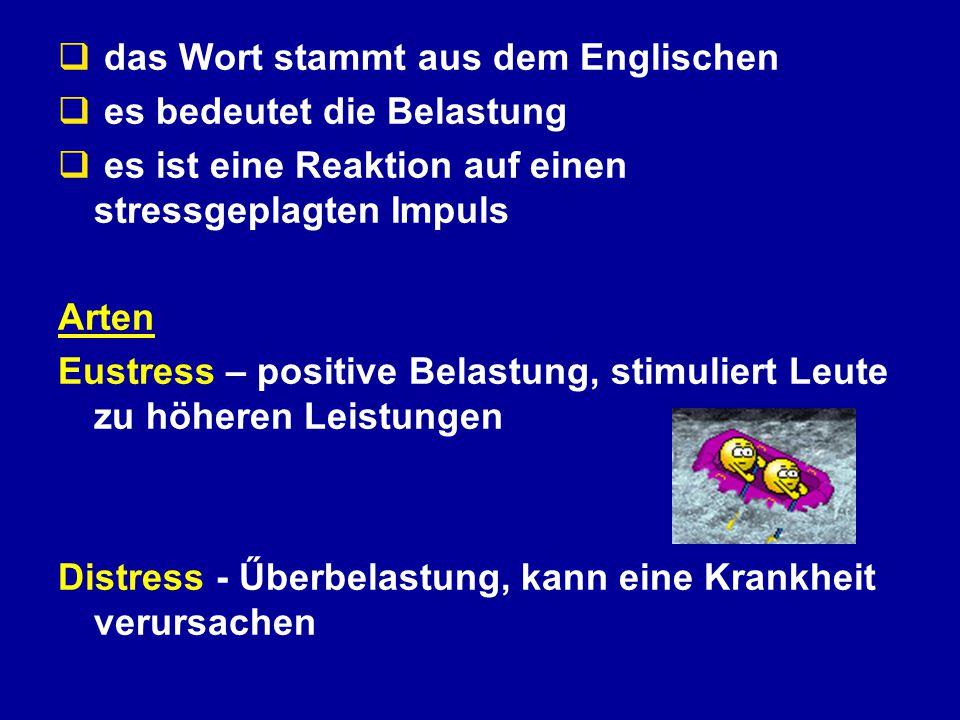 Wie bewertet man den Stress .