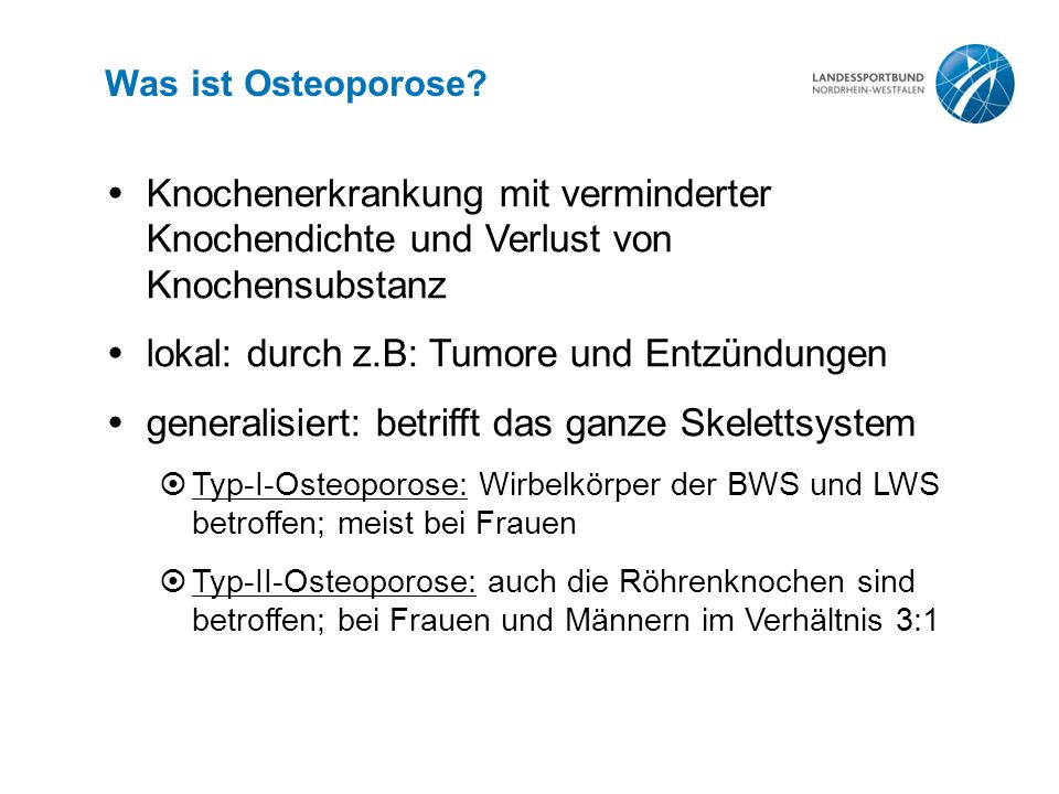 Was ist Osteoporose.