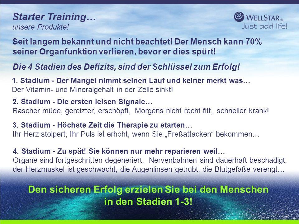 WellStarWellStar Starter Training… unsere Produkte! Seit langem bekannt und nicht beachtet! Der Mensch kann 70% seiner Organfunktion verlieren, bevor