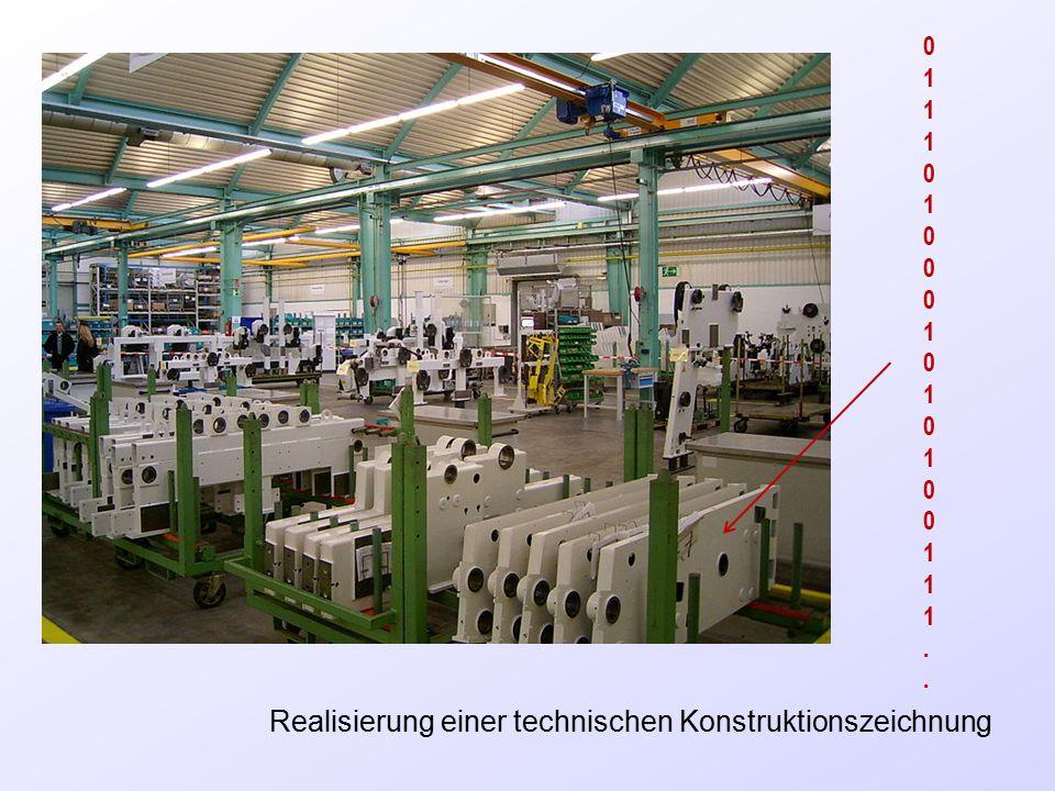 Realisierung einer technischen Konstruktionszeichnung 0111010001010100111..0111010001010100111..