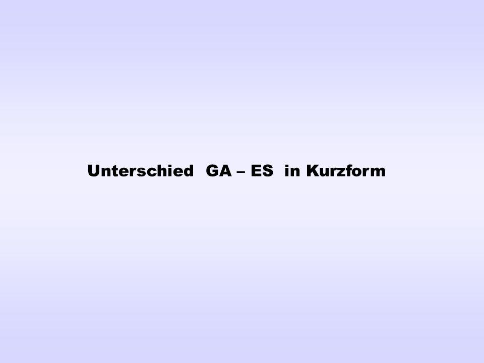 Unterschied GA – ES in Kurzform