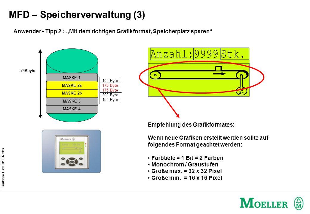 """Schutzvermerk nach DIN 34 beachten Anwender - Tipp 2 : """"Mit dem richtigen Grafikformat, Speicherplatz sparen"""" Empfehlung des Grafikformates: Wenn neue"""