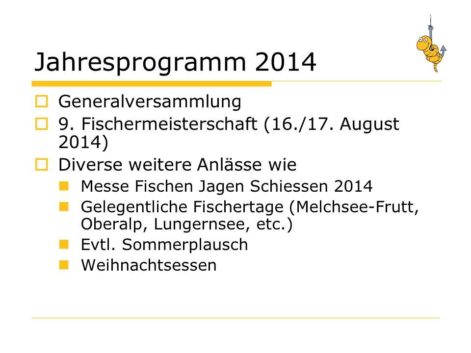 Fischer-Meisterschaft 2014  Datum: 16.& 17.