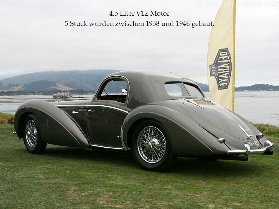 4,5 Liter V12-Motor 5 Stück wurden zwischen 1938 und 1946 gebaut.