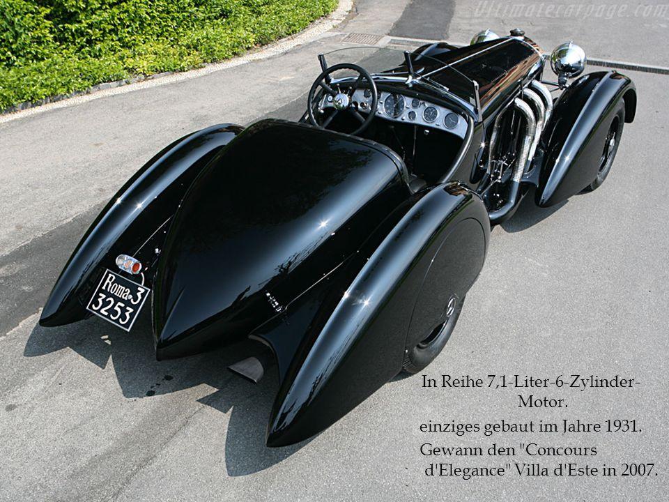 In Reihe 7,1-Liter-6-Zylinder- Motor. einziges gebaut im Jahre 1931. Gewann den