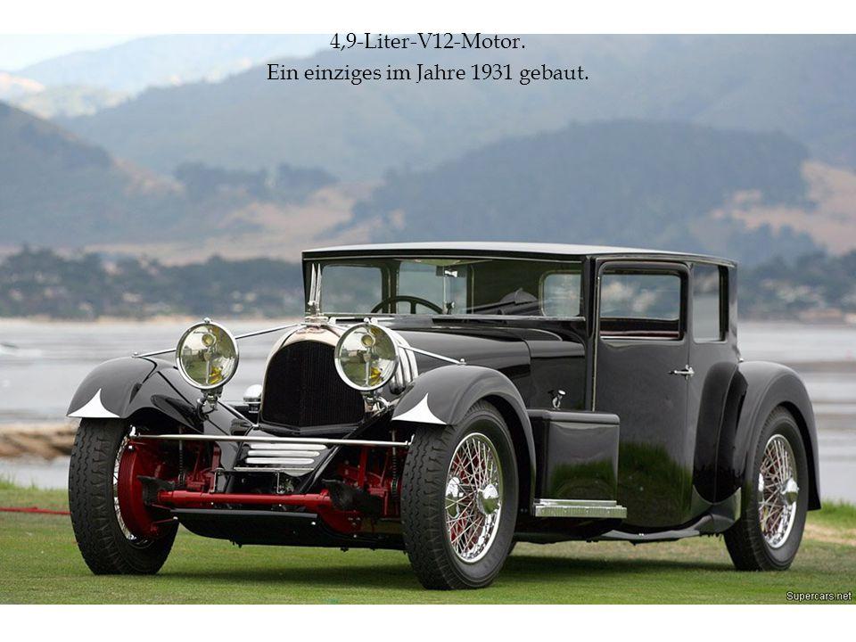 4,9-Liter-V12-Motor. Ein einziges im Jahre 1931 gebaut.