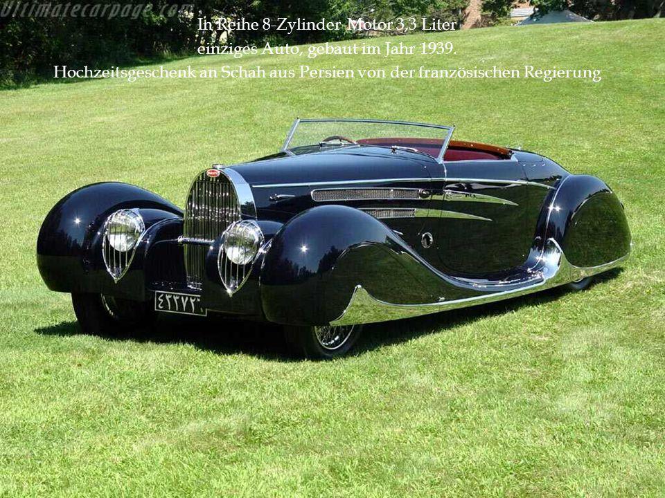 In Reihe 8-Zylinder-Motor 3,3 Liter einziges Auto, gebaut im Jahr 1939. Hochzeitsgeschenk an Schah aus Persien von der französischen Regierung