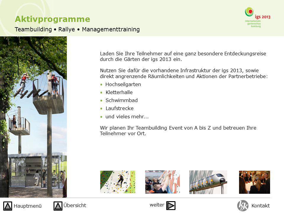 Teambuilding Rallye Managementtraining Aktivprogramme Laden Sie Ihre Teilnehmer auf eine ganz besondere Entdeckungsreise durch die Gärten der igs 2013 ein.