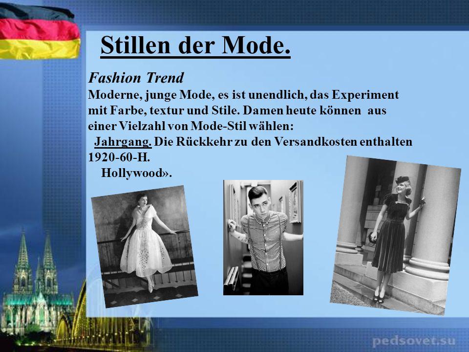 Stillen der Mode. Fashion Trend Moderne, junge Mode, es ist unendlich, das Experiment mit Farbe, textur und Stile. Damen heute können aus einer Vielza
