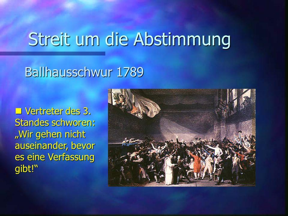 Streit um die Abstimmung Ballhausschwur 1789 Vertreter des 3.
