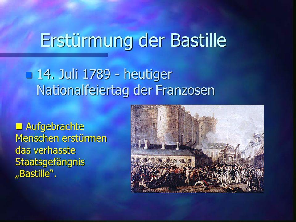 Erstürmung der Bastille n 14.