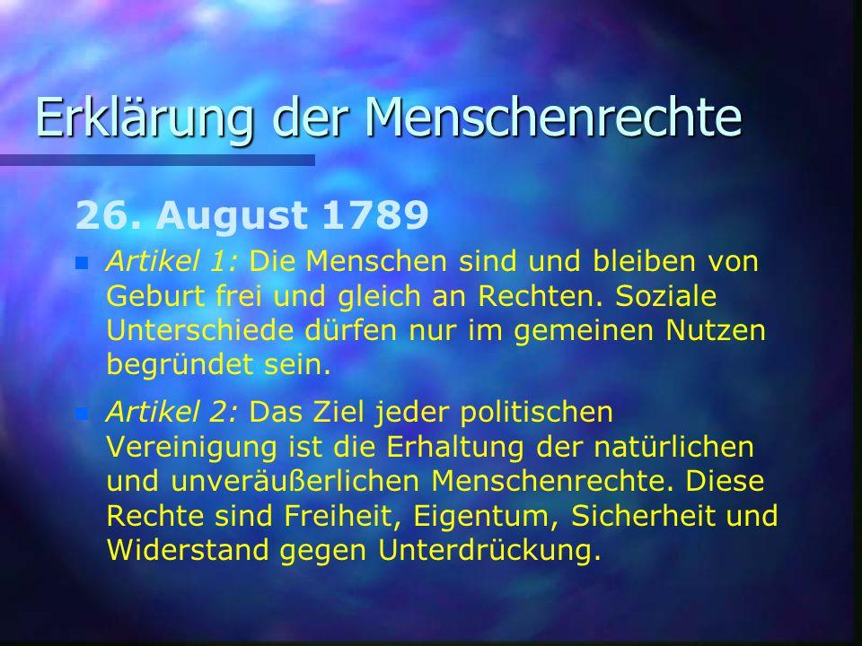 Erklärung der Menschenrechte 26.